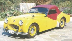 """""""Frog-eye"""" headlamp pods gave the front end of the TR2 Roadster a unique look."""