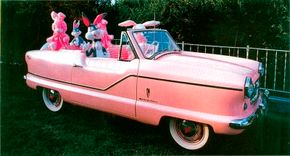 This cute little Metropolitan was modified to duplicate the 1960 Fifth Avenue parade car.