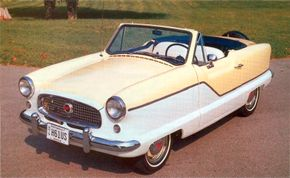 When this Autumn Gold-and-white 1961 Metropolitan was built, only a few hundred would follow it.