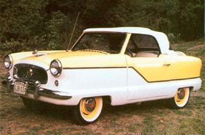 The 1957 Metropolitan convertible cost $1,591, only $24 more than the hardtop.