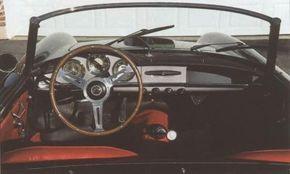 Early Giuliettas, like this 1959 model, had an open glovebox.