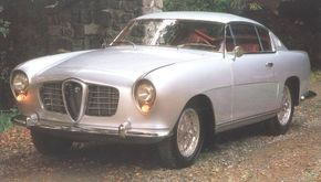 This 1954 Alfa Romeo 1900 has a one-off body by Ghia. See more classic car pictures.