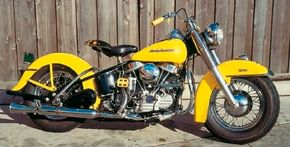 The 1954 Harley-Davidson FL Hydra-Glide motorcycles accounted for nearly half of all Harleys sold in 1954. See more motorcycle pictures.