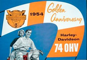 Though founded in 1903, Harley-Davidson chose to celebrate its 50th anniversary in 1954.