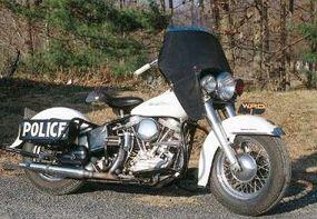 The big Harleys were law-enforcement staples.