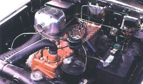 The 1954 Packard Panther convertible had the biggest engine available -- a 359-cubic-inch straight eight.