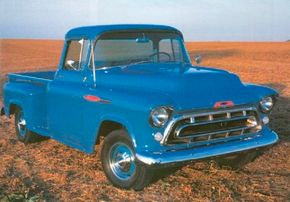 Beauty and utility met in trucks like the 1957 Chevrolet 3200 ½-ton pickup.