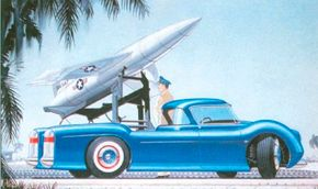 Though it proved impractical, Chuck Jordan's design drawings often featured a unified cab and bed.
