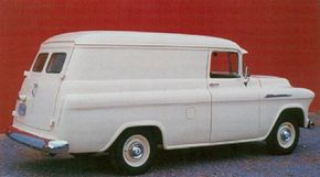 Basic Chevrolet trucks like this 3100 had painted grilles, bumpers, headlight bezels, and hubcaps. See more classic car pictures.