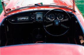 The interior of the MGA 1600 was largely unchanged.