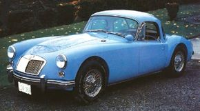 The MGA 1600 (1960 model shown) sold 31,501 units during its two-year run.