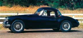 The 1957 MGA coupe was featured at the year's London Motor Show.