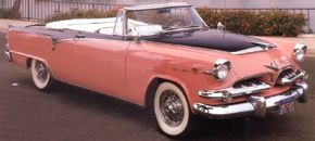 """The 1955 Dodge Custom Royal Lancer Convertible embodied Virgil Exner's """"Forward Look."""" See more classic car pictures."""