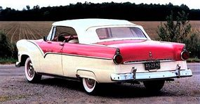 Jet-Tube taillights gave the Sunliner Convertible Coupe a futuristic look.