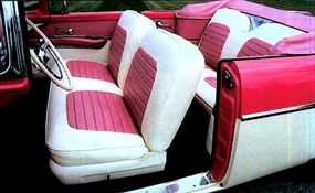 Not only were Sunliner interiors creative, they were considered cutting-edge for 1955.