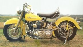 The 1955 Harley-Davidson FL Hydra Glide was equipped with a powerful Big Twin engine. See more motorcycle pictures.
