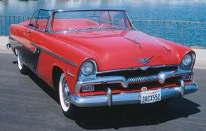 This restored 1955 Plymouth Belvedere convertible features a 260-cid V-8 engine. See more pictures of Plymouth cars.