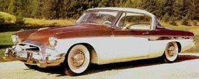 The 1955 Studebaker President was the glittering predecessor to the finned Hawks. See more classic car pictures.