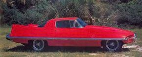The Ghia-designed 1956 Ferrari Superamerica featured astonishingly high rear fins.