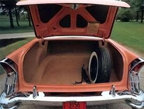 The large trunk offered plenty of storage space.