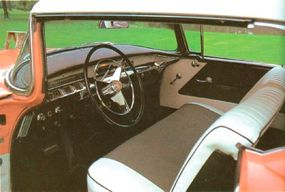 An attractive Custom Deluxe upholstery option was offered on the 1956 Special.