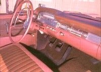 The spacious interior of the 1957-1959 Ford Ranchero.