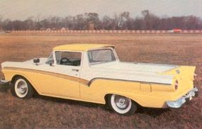 Two-tone paint was common on the Ford Ranchero.