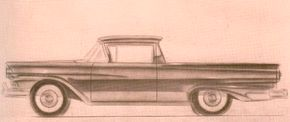 An undated scale drawing has the 1957 Ranchero being given final dimensions before moving on to production. See more classic car pictures.