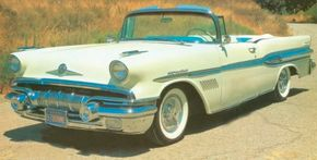The first production Bonneville bowed in early 1957 as this Star Chief-based convertible, the most sporting Pontiac in history.