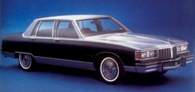The 1980 Pontiac Bonneville Brougham sedan continued the downward trend of the make.
