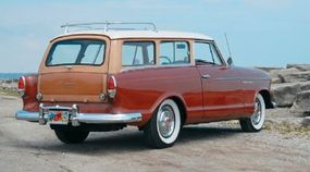 This 1960 Rambler American Custom station wagon was specially built with woodgraining around the windows and on the tailgate.