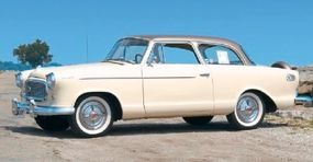 AMC dusted off the tooling of the old Nash Rambler, made a few styling updates, and reintroduced its little car as the Rambler American.