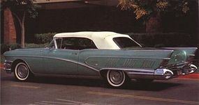 The 1958 Limited had a louver-banked styling of rear-quarter panels to accentuate its longness.