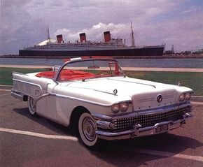 """A selection of 1958 Buick ads used the tag line, """"It looks and feels like flight on wheels."""""""