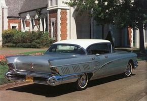 The 1958 Limited taillights are distinguished by four bright chrome bars.