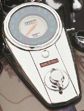 The speedometer got its own chrome stage.