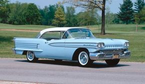 1958 Oldsmobile Dynamic 88 broke away from recent styling trends. See more pictures of Oldsmobile cars.