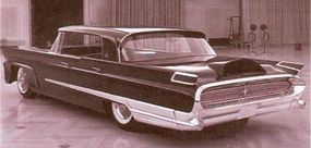 A Mark III based on the 1958 Lincoln replaced the Mark II. The ungainly taillamps and humped trunklid were wisely discarded from this Mark III concept.