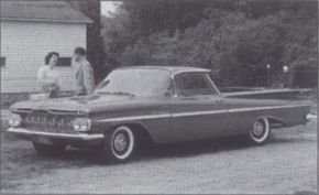 """The pioneering 1959 Chevrolet El Camino was Chevy's first """"sedan pickup."""" See more classic car pictures."""