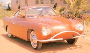 """Image Gallery: Concept Cars The 1959 Charles Townabout concept car put its electric powertrain in a fiberglass body based on the Volkswagen Karmann-Ghia. It was dubbed the """"volts wagon."""" See more pictures of concept cars."""