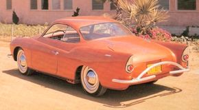 """A dipped bodyside """"character line"""" and trendy tailfins set the Charles Townabout apart from the VW Karmann-Ghia that inspired its body design."""