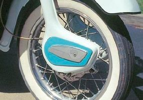 The Leader had odd-looking trailing link front forks.
