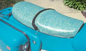 A wild paisley seat cover added to the unique look.