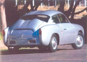 The Zagato coupe was so low because it had to look sporty on a tiny 78.7-inch-wheelbase unibody platform.
