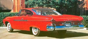 The 1961 Dodge Dart included three series of styles including the price-leading Seneca, the Pioneer, and the line-leader Phoenix.