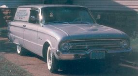 Companion to the Falcon Ranchero, the Falcon Sedan Delivery shared the Falcon station wagon's body but got blanked-out rear-side windows.