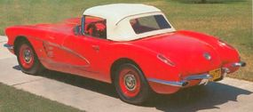 A rear stabilizing bar improved road handling for this zippy 1960 Corvette roadster.
