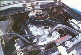 The 259 V-8 engine on the Lark still managed to get 23.28 mpg.