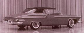 """One of two final DeSoto S-series mockups shows a relatively subtle """"chicken-wing"""" rear fender."""