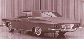 The truncated rear treatment for the would-be 1962 DeSoto is evident in another clay model from 1959.